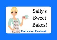 21 PERSONALISED GLOSS STICKERS FOR CAFE,COFFEE SHOP,CUPCAKE, HOME BUSINESS