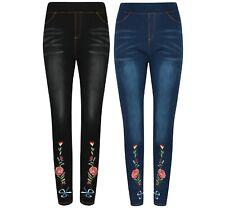 Ladies Womens Girls Leggings Jeggings Stretch Jeans Denim Skinny slim Fit NEW