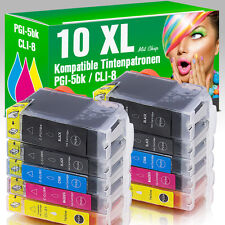 10 für Canon Pixma IP4200 IP5200 IP4500 IP4300 MP520 MP610 IP5300 MP600 mit Chip