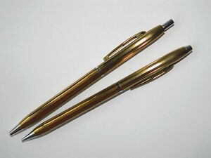 IPPAG Slim Rollerball Pen and Mechanical Pencil SET, France ca.1965
