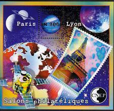 TIMBRE BLOC  C.N.E.P N° 31  SALON PHILATELIQUE  PARIS  LYON   DENTELE