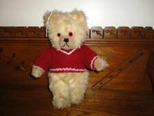 Old Antique 1950s Bear Working Squeaker Glass Eyes 11in