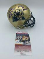 Jim Covert Signed Pitt Panthers T/B Mini Helmet CHOF 03 - '82 AA insc JSA Pic