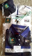 3 NWT / NIP!  Fila BNP Paribas Open Tennis Jacket, Polo Shirt + Ball Cap - XL
