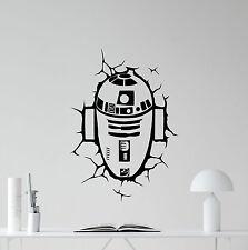 R2-D2 Wall Decal Star Wars R2D2 Droid Vinyl Sticker Kids Art Decor Mural 63crt