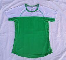 Womens Nike Running DRI-FIT size Medium M Stretchable Green Top Shirt Polyester