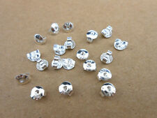 20PCS 925 Sterling Silver Butterfly BACK STOPPERS Earrings Jewelry Findings