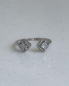 💫Pandora Square Sparkle Open Ring-ALE 925s-198506C01-Size 54💫🇬🇧