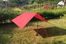 3F UL Gear Ultralight Mini Silnylon waterproof backpacking tarp RED 6.8 oz