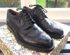 FRATELLI ROSSETTI Brogues RRP £ 345 GOODYEAR MADE IN ITALY NERO