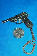 Old P38 Walther Pistol Tiny P-38 Keychain Gun Vintage Small Mini Key Ring P 38
