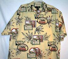 FREE SHIP Wiggling Willys Toucan Newport Blue Hawaiian Rock a Billy Shirts Mens