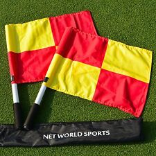 UEFA Football Linesman Flags | Carry Bag Included | Football Matchday Equipment