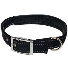 Reflective Dog Collar for Night Safety Padded Small Medium and Large Availible