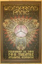 Widespread Panic Poster 2011 Atlanta, Ga Signed/#1000 Rare! Sold Out!