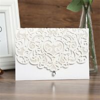 Laser Cut Personalized Printing Wedding Invitation Card with Blank Card Envelope