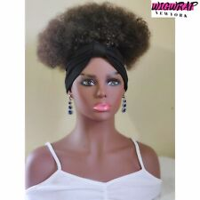 Headband Wig 2in1 Wrapwig / Kinky Curly Wig / Afro Wig For Black Women