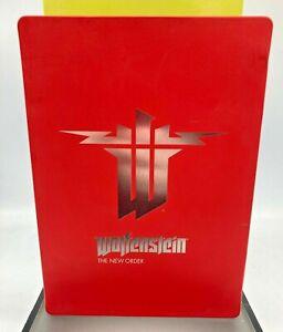 WOLFENSTEIN THE NEW ORDER Steelbook Case Only!! For Xbox 360