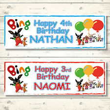 2 PERSONALISED BING BIRTHDAY BANNERS - BOY OR GIRL - 800 x 297mm