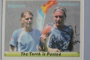 Abby Wambach Signed & Framed 8X10 Photo W/ Mia Hamm  Athens 2004