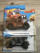 Hot Wheels 15 Land Rover Defender Double Cab X2
