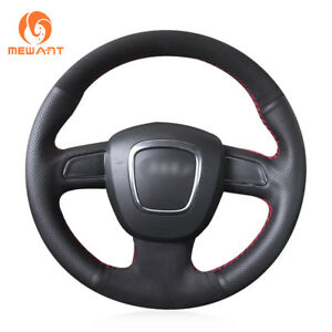 DIY Leather Suede Steering Wheel Cover for Audi A3 A4 A5 A8 Q7 S4 S5 S6 S8
