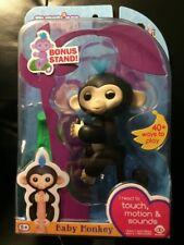 Fingerlings Baby Monkey FINN ( Black ) - Authentic Fingerling by WowWee