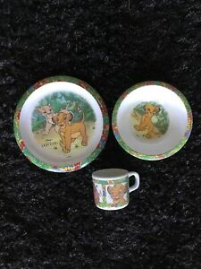 Vintage Disney The Lion King Melamine Plate Bowl And Mug By Cole And Mason