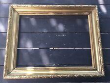 Rare Ancien cadre bois doré XIXème Feuillure Napoléon III 1870