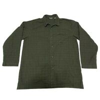 Eddie Bauer Pocket Button Up Shirt Long Sleeve Plaid Green Mens Large Tall LT