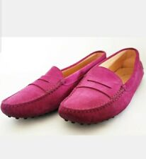 TOD'S scarpe donna  Mocassino driver gommini camoscio N 36.5