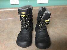 Youth Big Kids KEEN Basin Waterproof Black & Yellow Boots Size 2 (CON16)