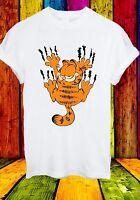 Garfield The Cat Scratch Wall Cartoon Funny Movie Men Women Unisex T-shirt 707