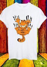 Garfield The Cat Scratch Wall Cartoon Funny Movie Men Women Unisex T-shirt 707