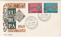 Italy 1968 Europa Key Symbol Napoli Horn Slogan Cancel FDC Stamps Cover ref22431