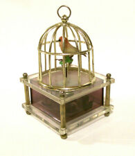 "Vintage Automaton Bird in Cage. Plays ""Theme From Romeo & Juliet"". Works Well"