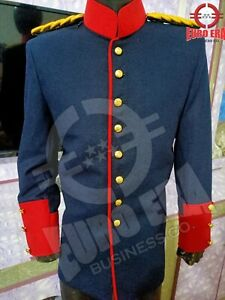 Napoleonic Prussian Dragoon Officer Coat Jacket With EPAULETTES in all sizes