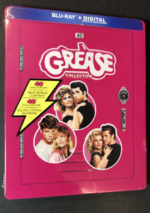 Grease 3-Movie Collection [ 40th Anniversary Edition STEELBOOK ] (Blu-ray) NEW