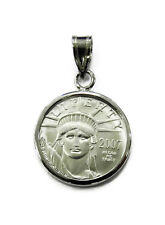 1/10 oz American Eagle Platinum Coin Necklace Charm Pendant