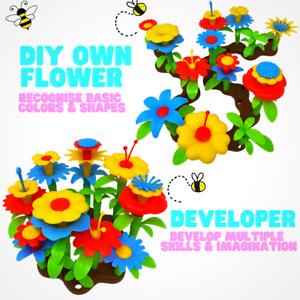 Flower Build A Garden Toy Building Blocks Set Floral Arrangement for Kids 54pc