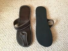 Mens size 44 leather flip flops BNWOT