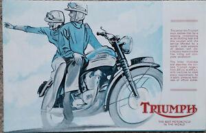 Triumph Motorcycle Brochure Bonneville Trophy 650 Cub 1962 Original Old Stock