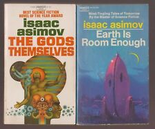 2 VG First Edition Paperback Isaac Asimov Earth Roon Enough Gods Themselves NICE