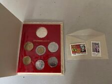 1983 ANNO V coins set with 2 stamps uncirculated