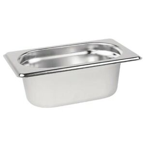 Gastronorm 1/9 Stainless Steel Containers Bain Marie Food Pan FREE DELIVERY