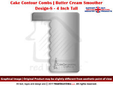 Cake Combs | Butter Cream Spreader Genius Edge Smoothing Contour Comb | 4"