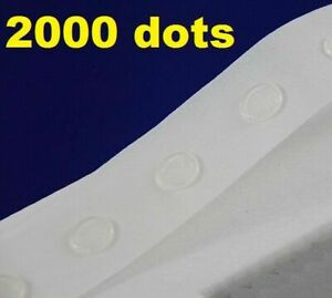 2000 Glue Dots Sticky Craft Clear Card Making Removable 15 mm STRONG GLU DOTS