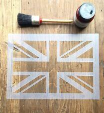 Union Jack Stencil, Union Jack Art, British Flag Stencil, Furniture Wall Stencil