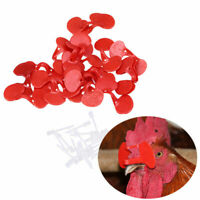 US 20pcs Soft Pinless Chicken Peepers Pheasant Poultry Blinder Spectacle Glasses