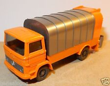 WIKING HO 1/87 MERCEDES KUKA CAMION POUBELLE REFUSE TRUCK SANITARY MULLWAGEN c
